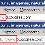 Mostrar el protocolo http:// en la barra de navegación de Firefox