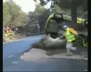 imagenes gente suerte coche accidente