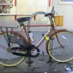Transcurso de una bicicleta estacionada tras 365 días