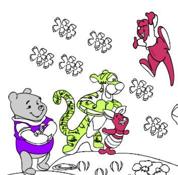 Juego de colorear a Winnie The Pooh  Juegos