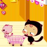 Juego de ir a comprar con el gato
