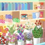 Juego de compras y preparación de ramos de flores