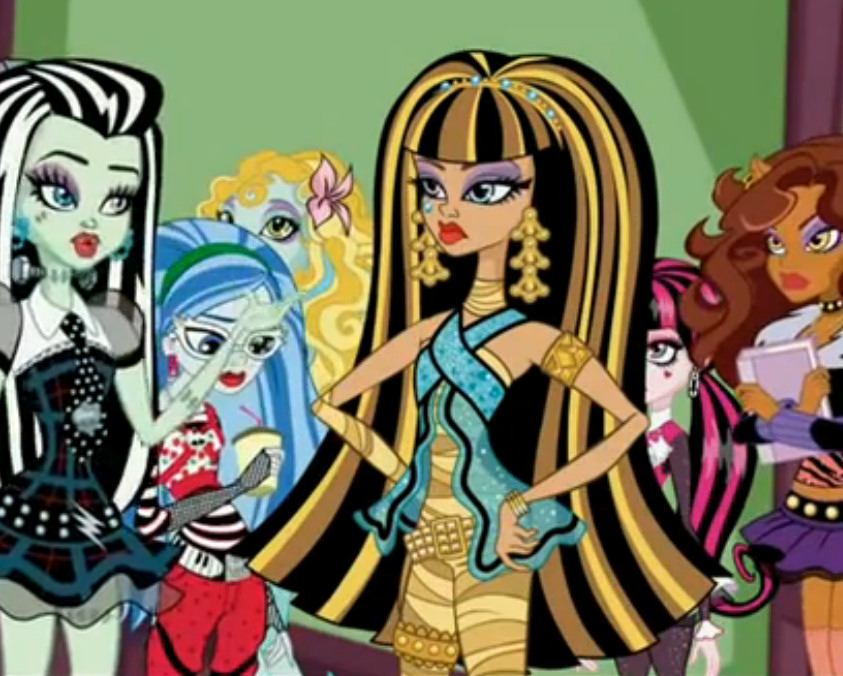 monster high guerra colmillos video