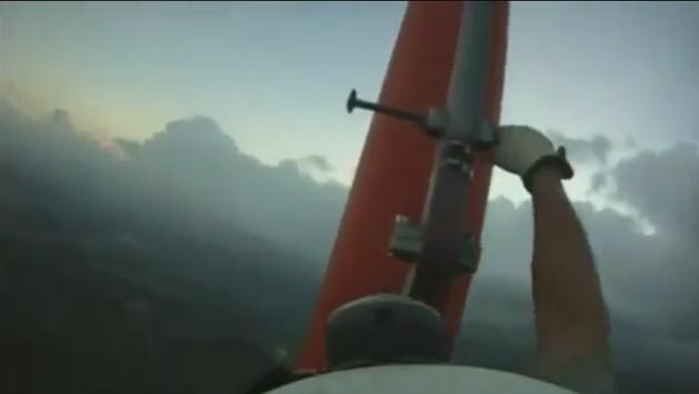 subiendo antena 300 metros sin arnes