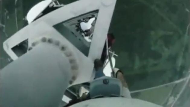 video subiendo torre sutro sin arnes