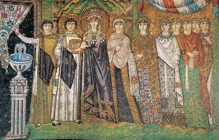 teodora justiniano Basilica San Vitale Ravena
