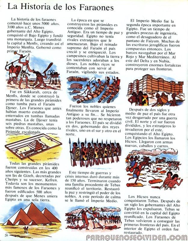 A traves del tiempo Faraones y piramides 29