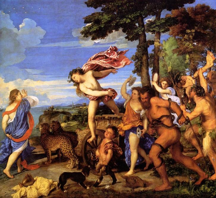 baco ariadna tiziano 1520-23