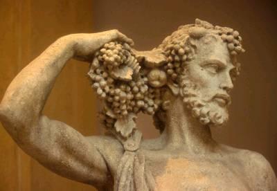 baco estatua mitologia
