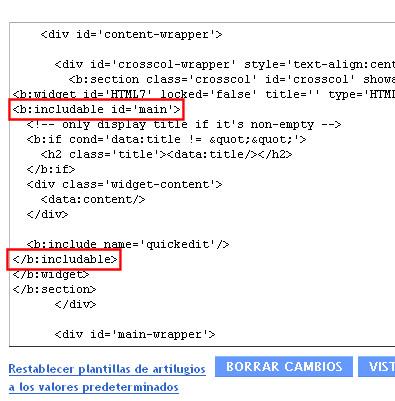 blogger codigo html includable