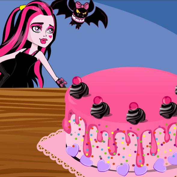 juego decorar tarta draculaura