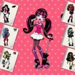 Juego de pintar a las chicas de Monster High