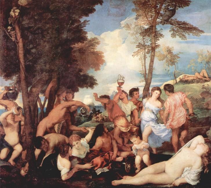la bacanal andrios tiziano 1523 1526
