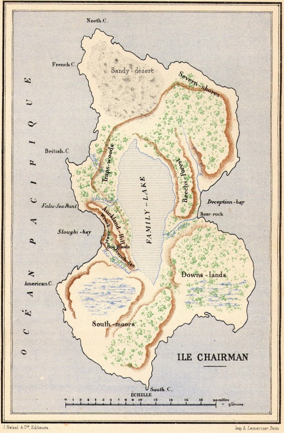 mapa isla chairman dos anos vacaciones