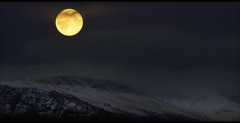 naturaleza bella luna llena noche
