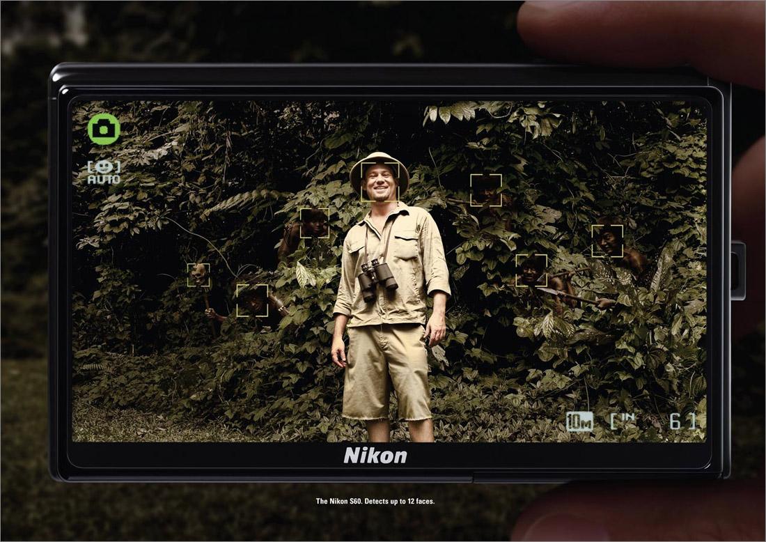 publicidad reconocimiento facil nikon selva