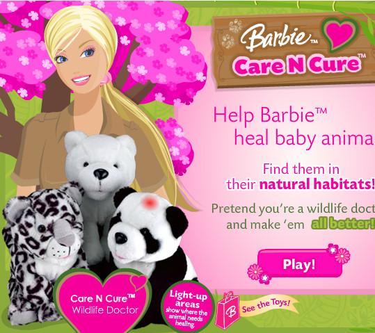 Barbie cuidadora animales
