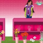 Barbie jardinera de flores y plantas