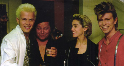 Billy Idol Sam Kinison Madonna David Bowie