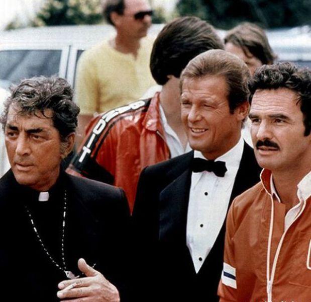Dean Martin Roger Moore Burt Reynolds