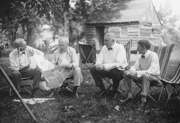Henry Ford Thomas Edison Warren G Harding Harvey Firestone 1921