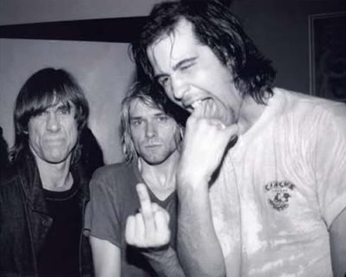 Iggy Pop Kurt Cobain Krist Novoselic