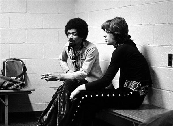 Jimi Hendrix Mick Jagger Nueva York 1969