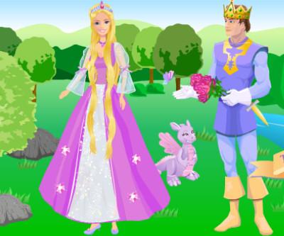 Juego vestir Barbie Rapunzel