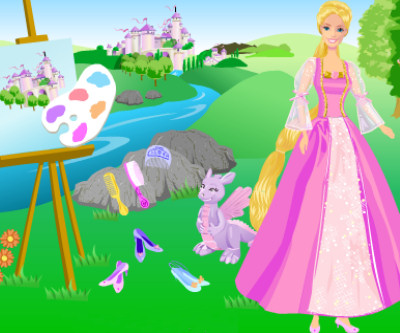 Moda Barbie Rapunzel