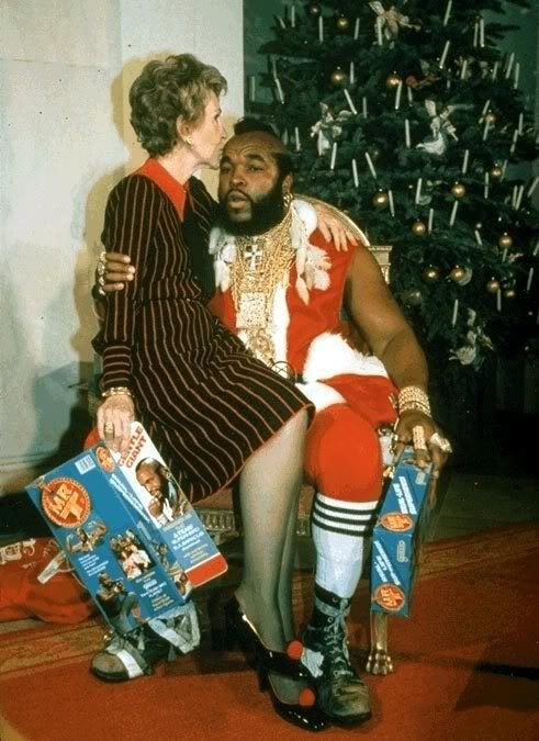 Nancy Reagan Mr T