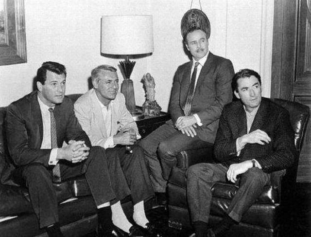Rock Hudson, Cary Grant, Marlon Brando y Gregory Peck