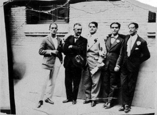 Salvador Dali Jose Moreno Villa Luis Bunuel Federico García Lorca Jose Antonio Rubio Sacristan