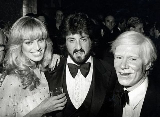 Silvester Stalone Susan Anton Andy Warhol