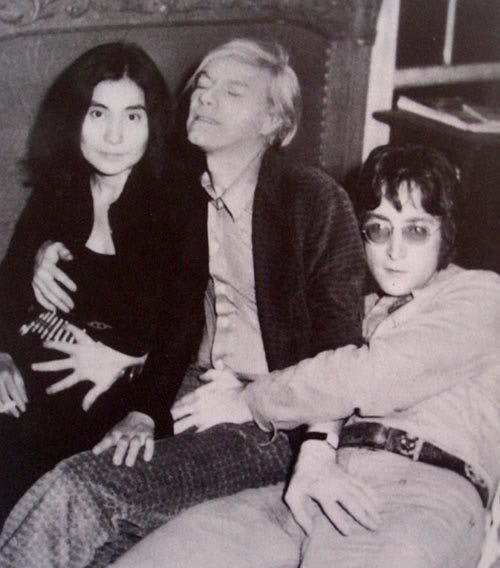 Yoko Ono Andy Warhol John Lennon