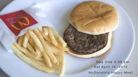 hamburguesa patatas mcdonalds primer dia