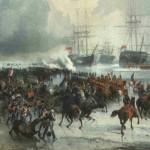 Cuando un ejercito de caballería derrotó a una armada naval