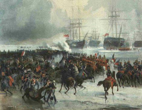 batalla 1795 Den Helder hielo