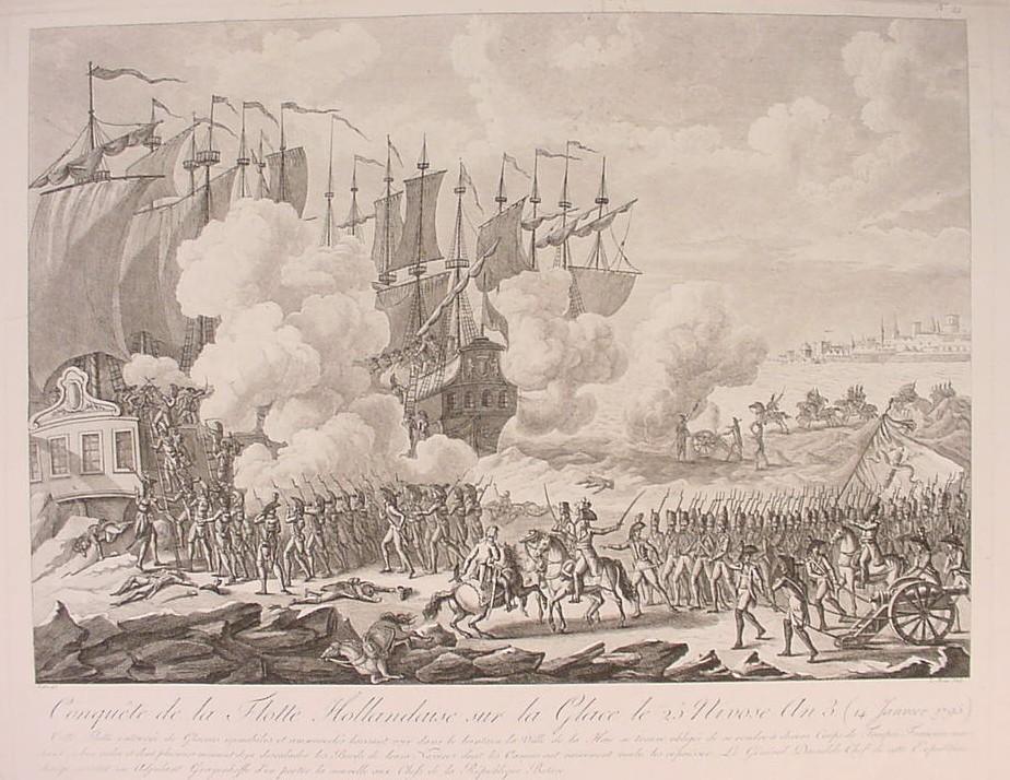 derrota navios holandeses caballos franceses