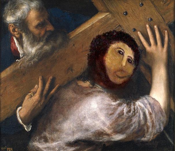 ecce homo cristo cargando cruz