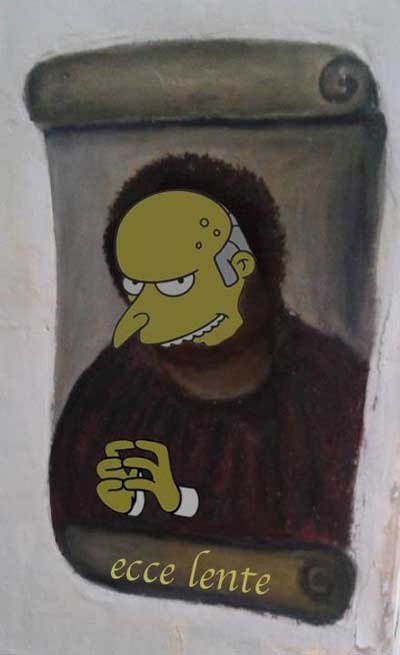 ecce homo senor burns simpsons