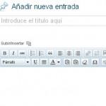 El editor de texto de Wordpress desapareció