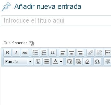 editor texto wordpress