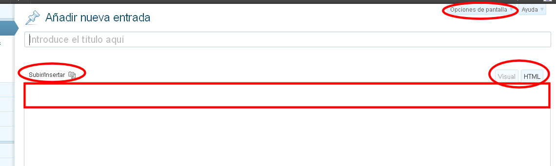 editor visual wordpress desaparecido error problema