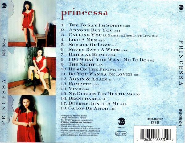 princessa calling you album 1997 back