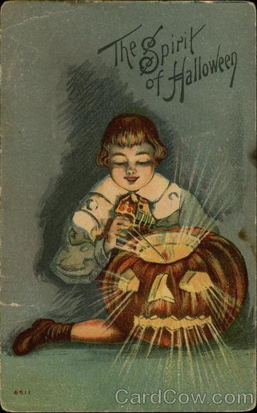 Ilustraciones antiguas Halloween 40