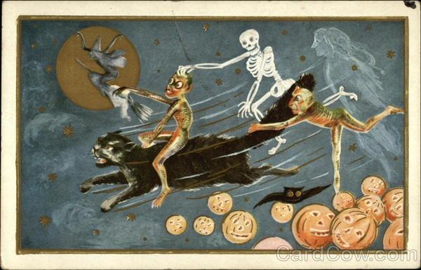 Ilustraciones antiguas Halloween 49