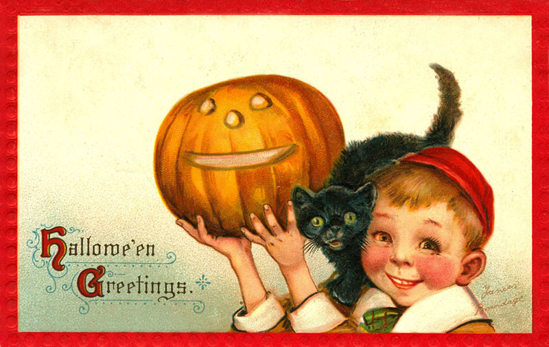 Ilustraciones retro Halloween 02