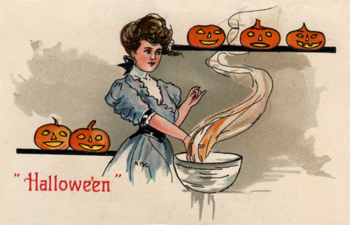Ilustraciones retro Halloween 03