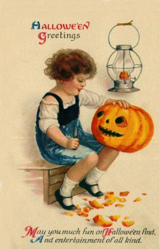 Ilustraciones retro Halloween 04