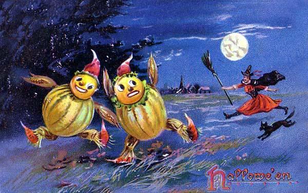 Ilustraciones retro Halloween 08